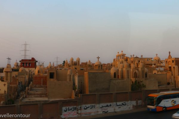A Christian cemetery we passed on the way out of Cairo