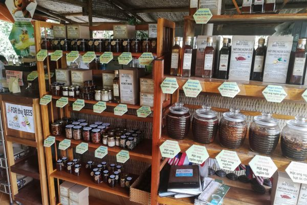 The wide honey selection on offer