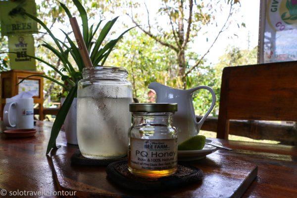 Lemon Tea with the local honey - yummie