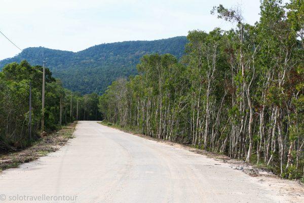 Road towards Rach Tram