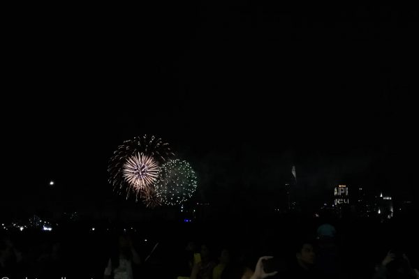 The firework to our left...