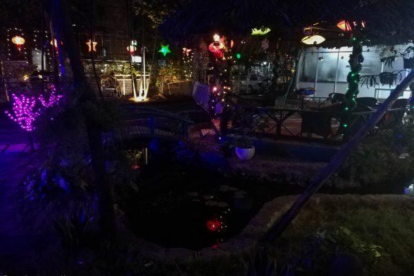 Little pond with lanterns
