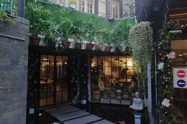Entrance to the cafe